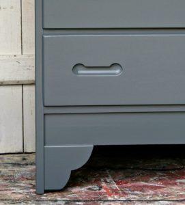 basic gray paint finish for wood furniture