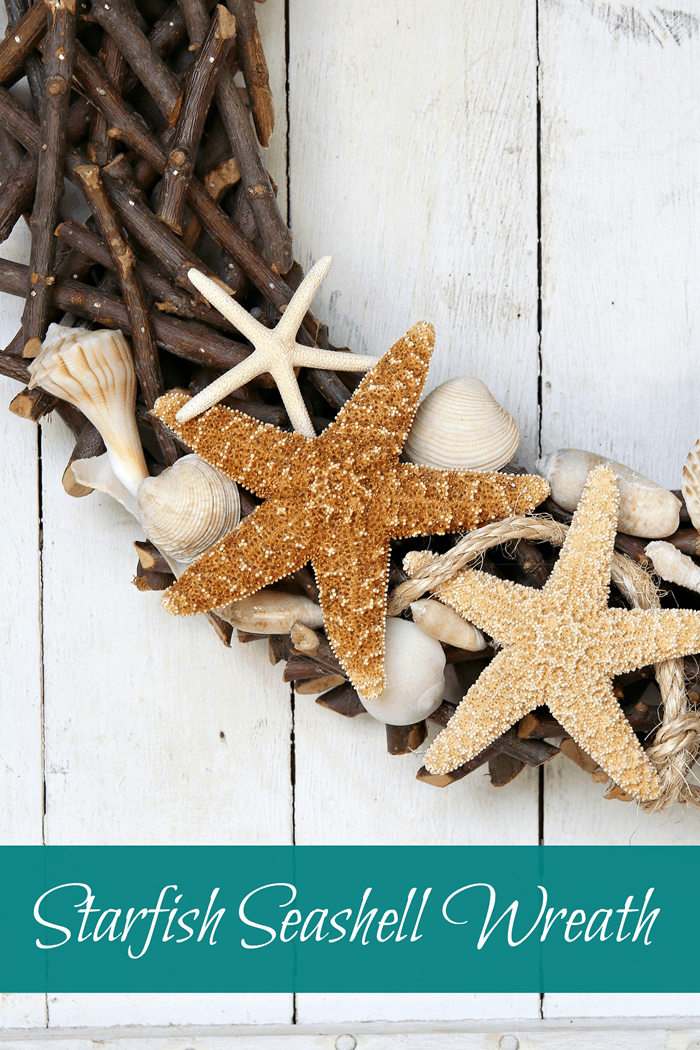 Make an easy wreath to show off your beach vacation seashell finds