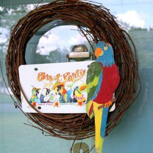 Parrot Head Wreath