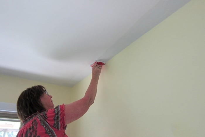 cutting in the ceiling when painting