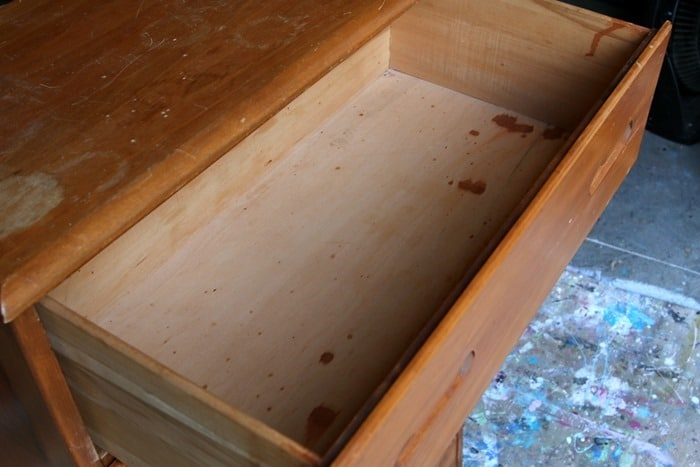 discolored areas on wood furniture