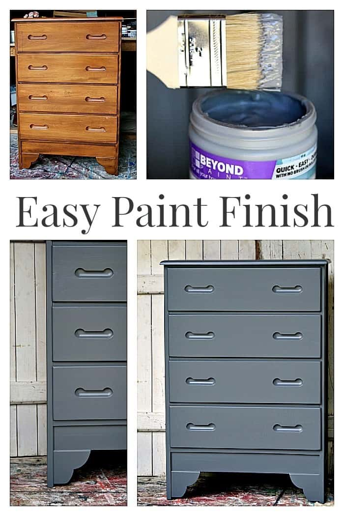 easy paint finish for furniture with no distressing or waxing