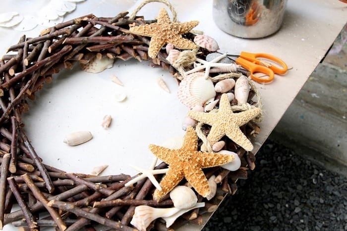 hot glue and a wreath project
