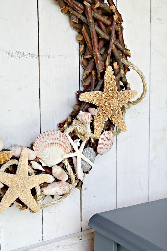 make a seashell wreath the easy way