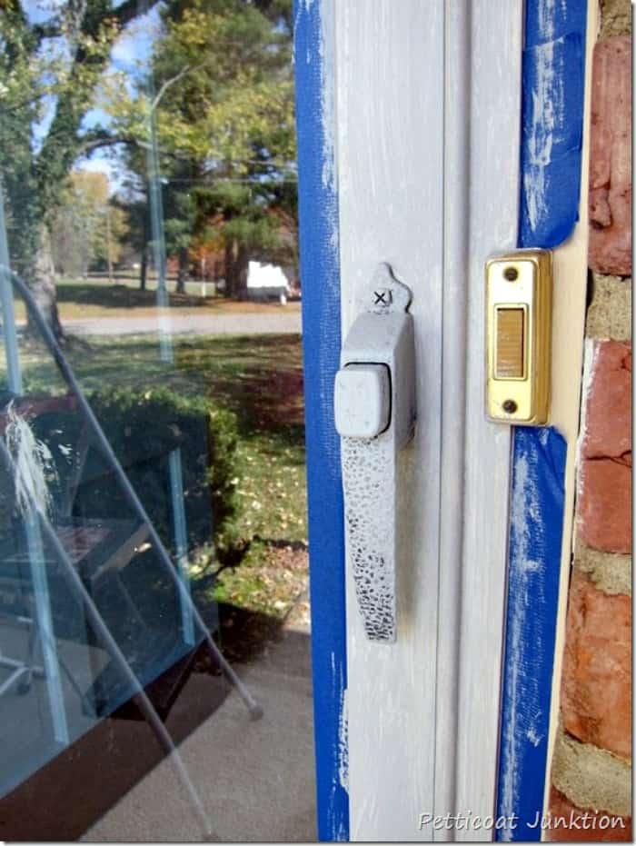 paint the latch on your metal storm door