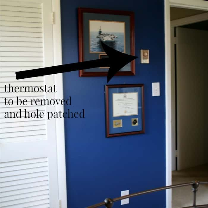 thermostat to be removed an hole patched