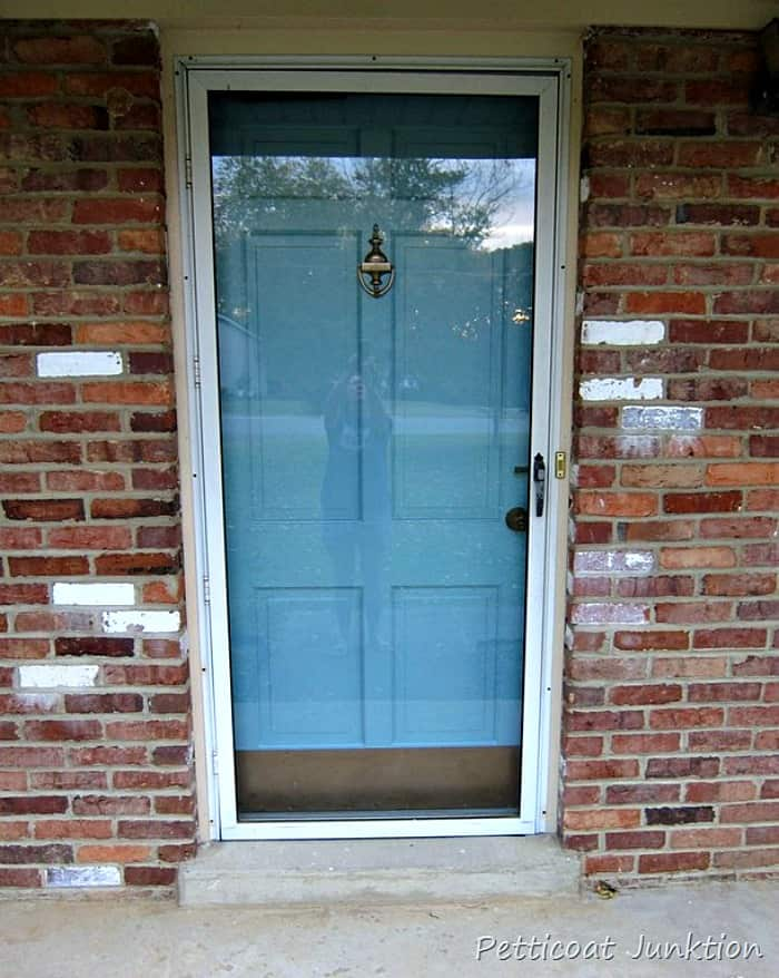 you can paint a storm door and front door the same color