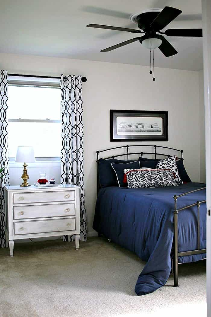 Inexpensive total bedroom makeover before and after