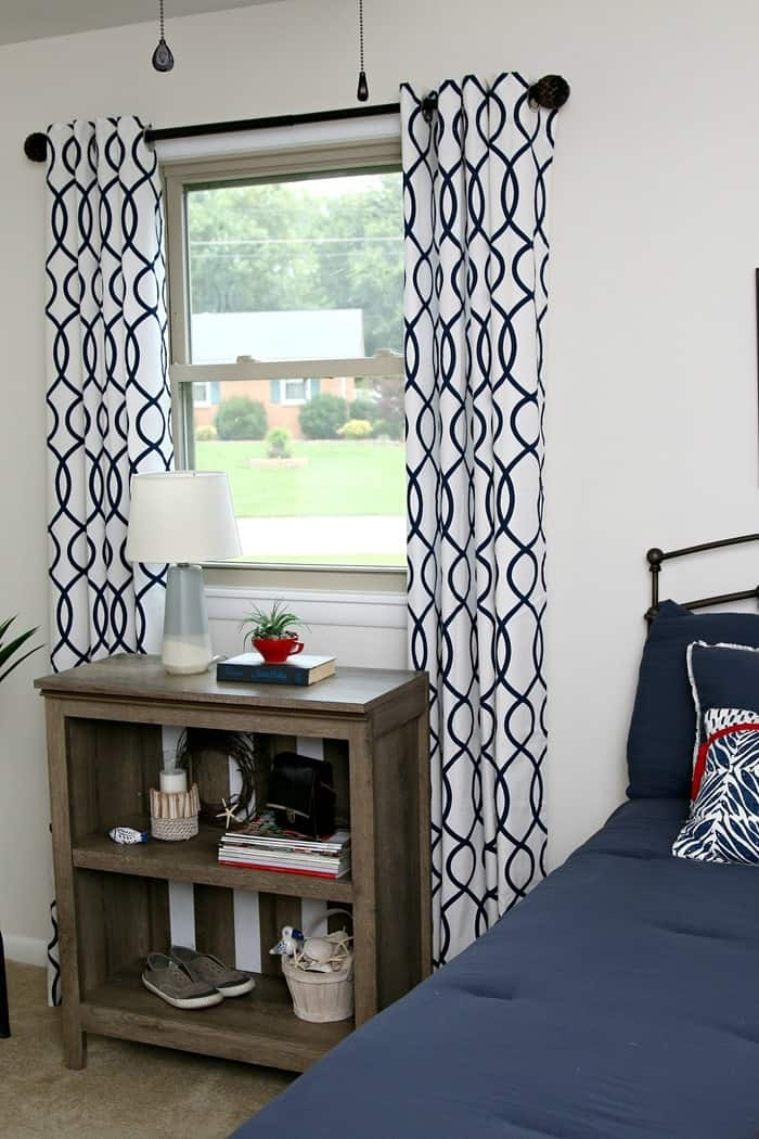 Paint White Stripes On Furniture In 30 Minutes Or Less