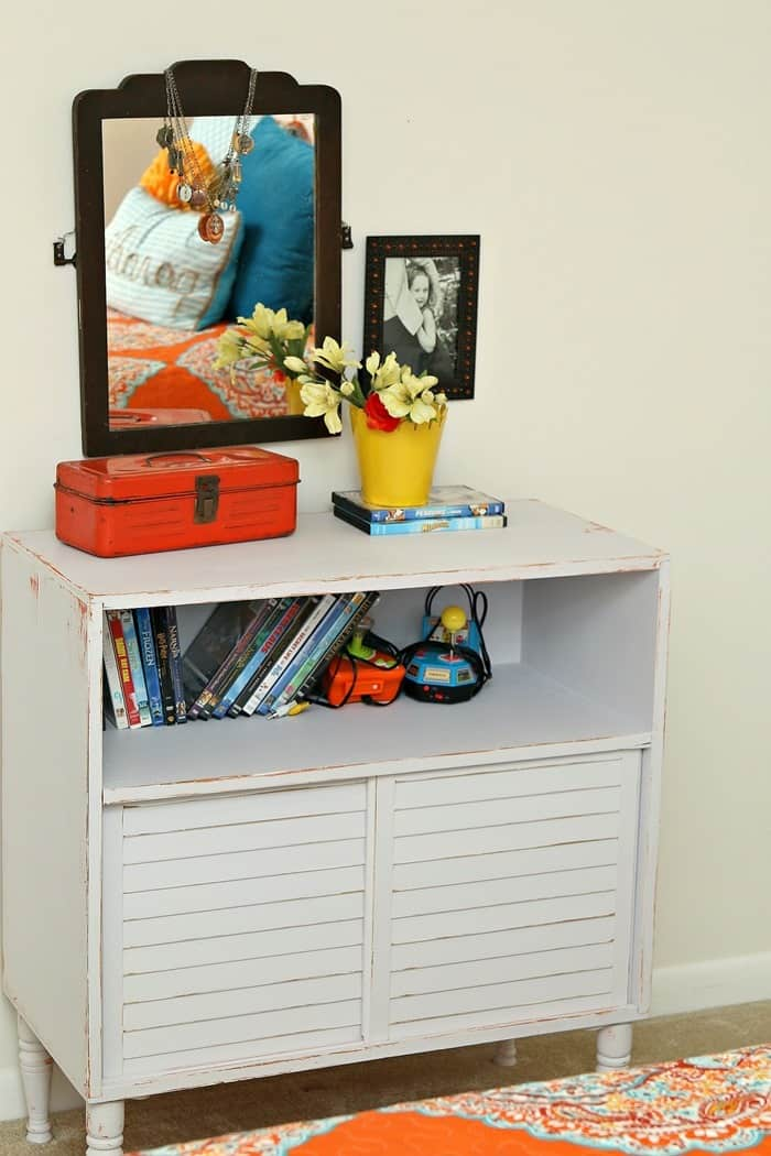 Simple Trick To Decorate A Mirror And Painted Dresser