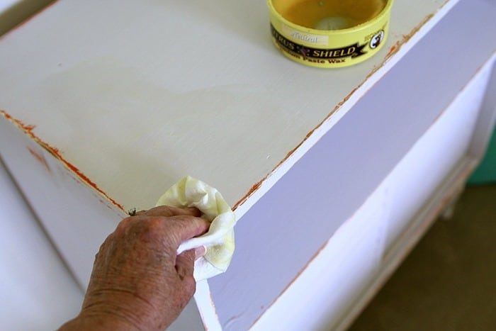 appling wax to painted furniture