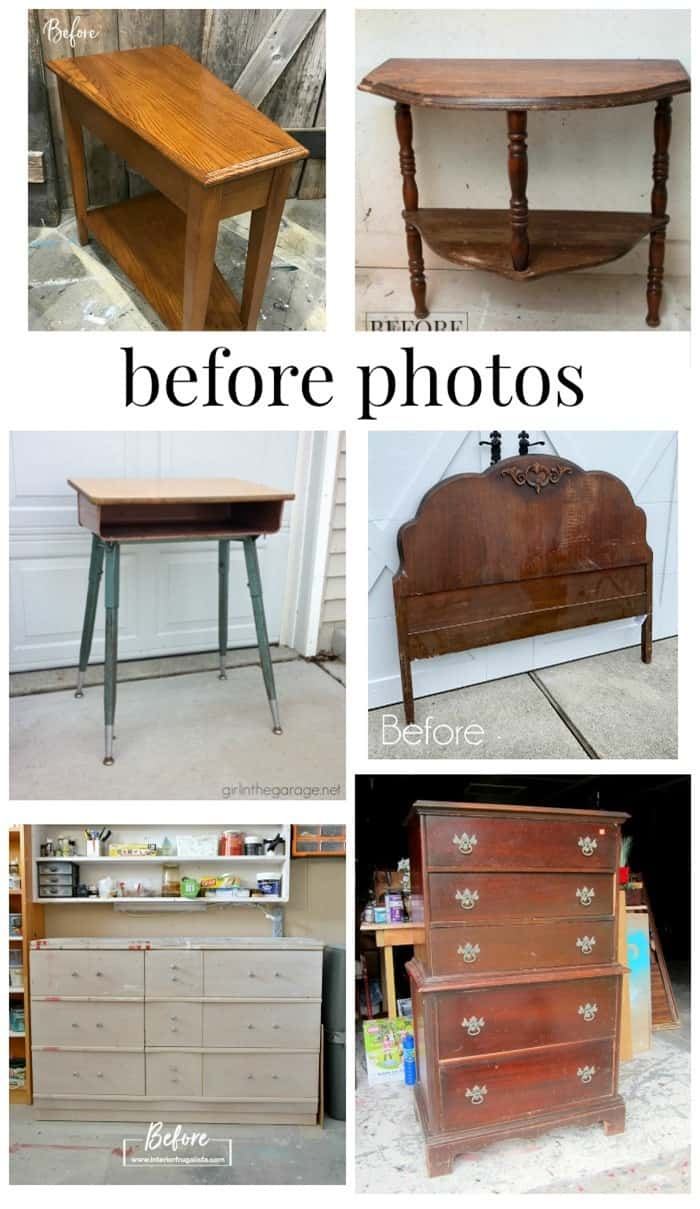 before furniture makeovers from the Furniture Fixer Uppers