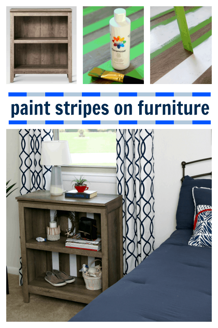 how to paint stripes on new furniture