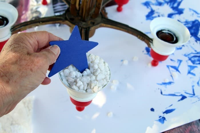 red white and blue patriotic project