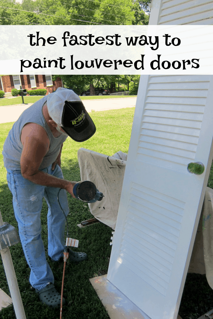the fastest and easiest way to paint louvered doors
