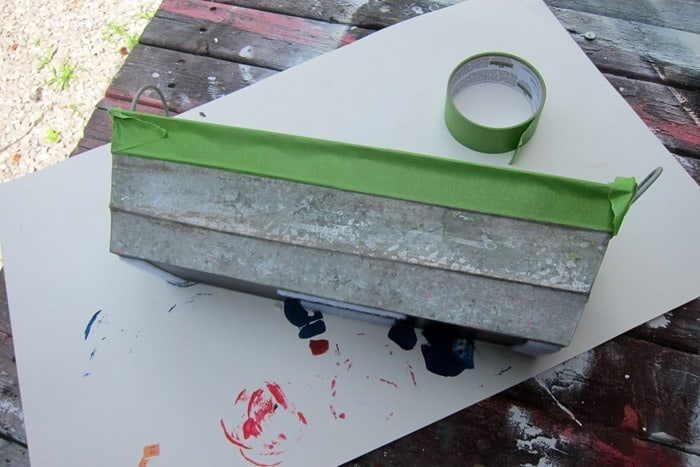 use Frogtape painters tape on home decor projects to protect from paint overlap