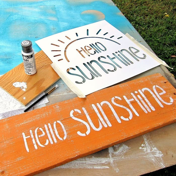 DIY Shutter Sign Idea Hello Sunshine