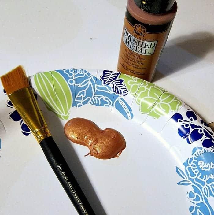 FolkArt brushed metal copper paint