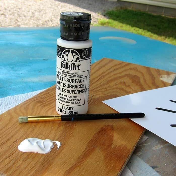 FolkArt white wicker acrylic paint for stenciling