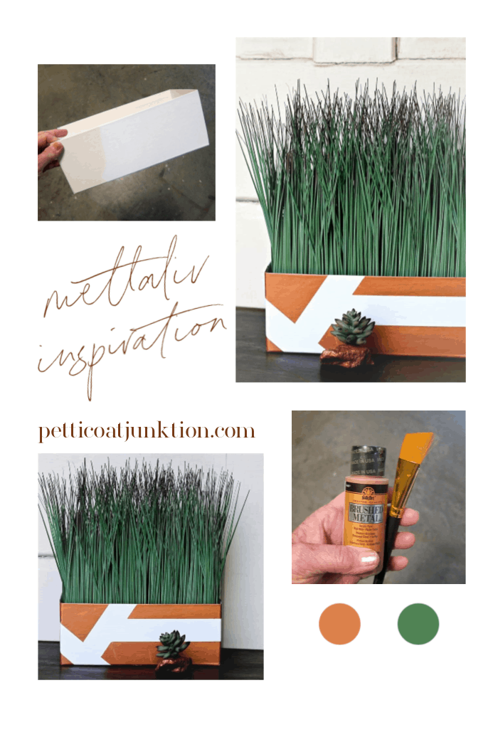How to paint cardboard with metallic copper paint
