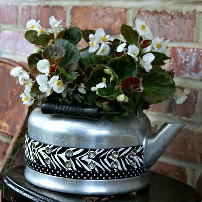 My DIY Tea Kettle Flower Pots Make The Neighbors Jealous