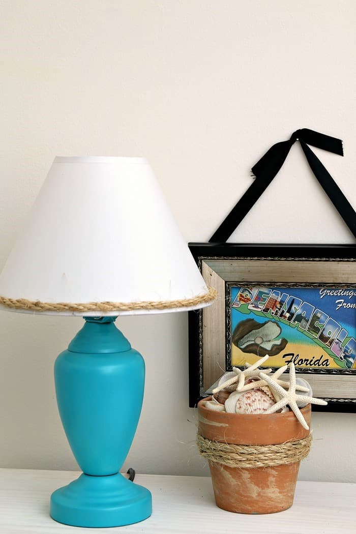 Summertime DIY Projects featuring Turquoise Paint And Sisal Rope