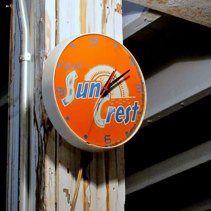 Vintage Sun Crest Clock at my favorite junk shop
