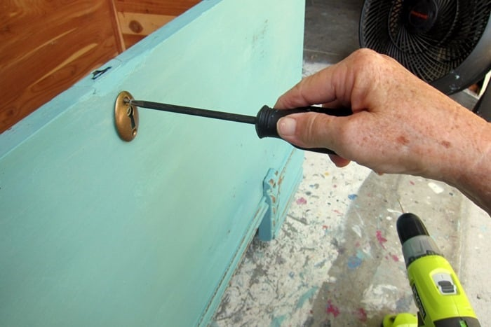adding key hole to a cedar chest