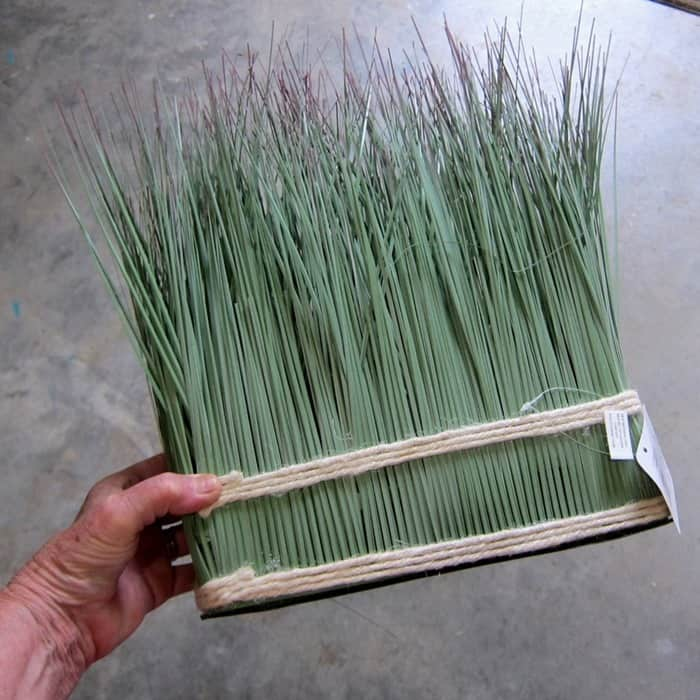 faux grass display on sale at Michaels