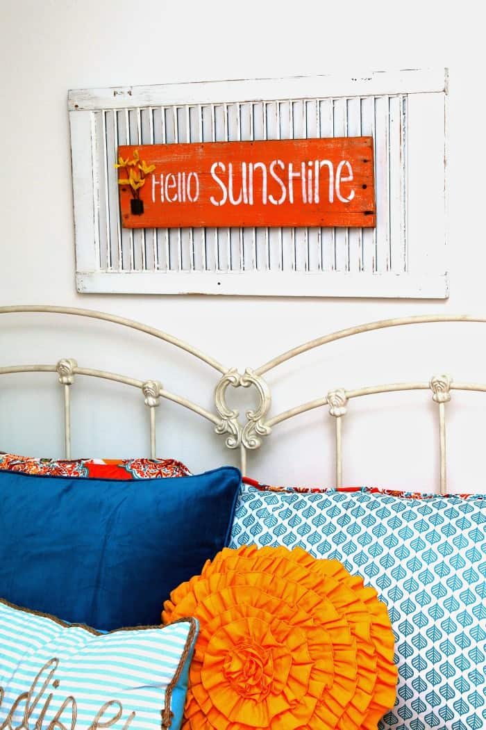 hello sunshine shutter sign