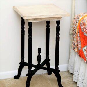 How to make white paint on furniture look old or aged.