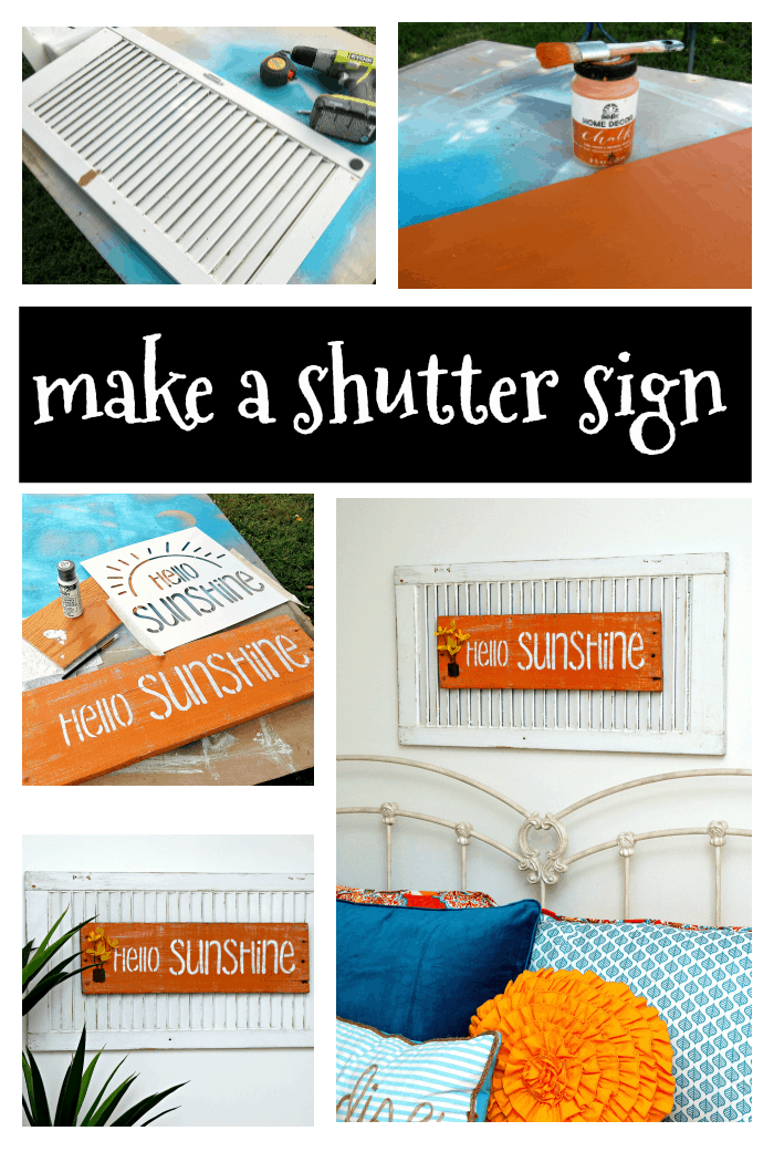how to make a sign using an old shutter