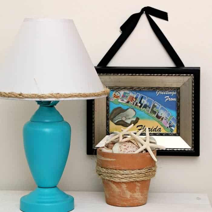 easy Summertime DIY Projects made with sisal rope and spray paint