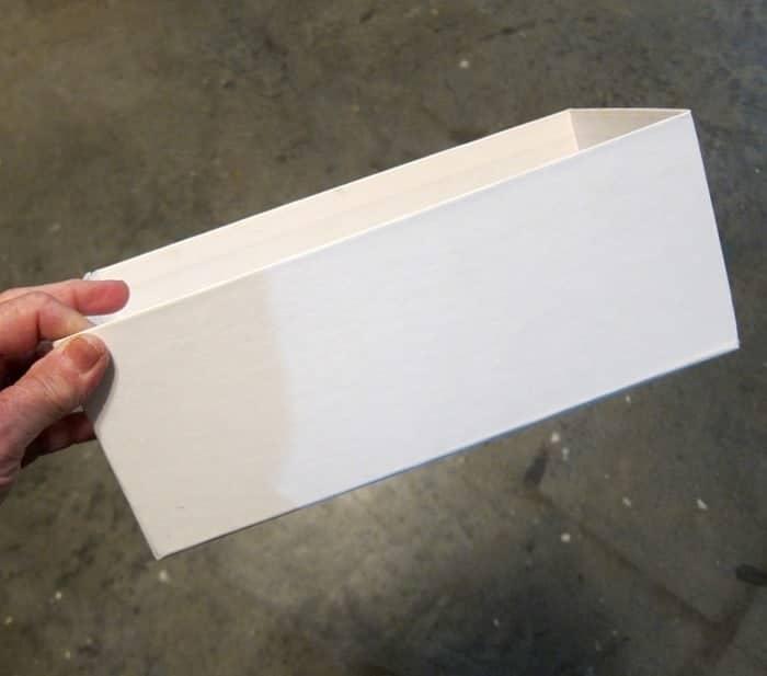 plain white cardboard box from Ikea