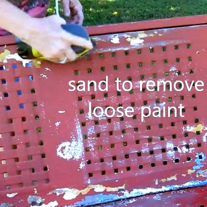 sand glider to remove loose chipped paint