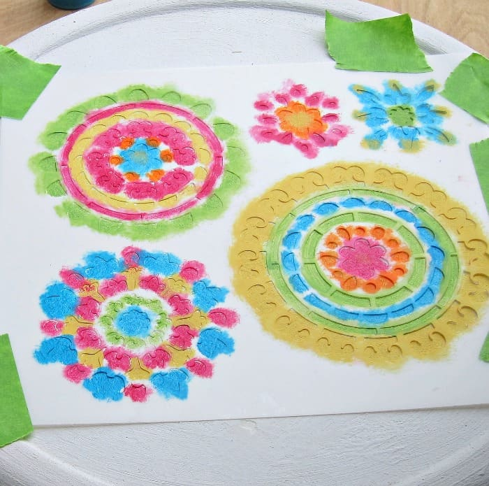 stenciling with multiple colors