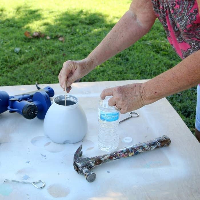 stir paint well