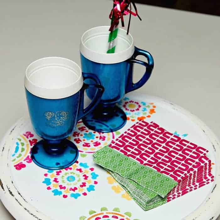 Trash to treasure thrift store lazy susan makeover