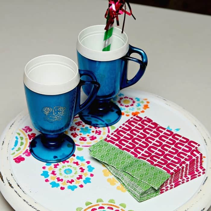 Trash To Treasure: Thrift Store Lazy Susan Makeover