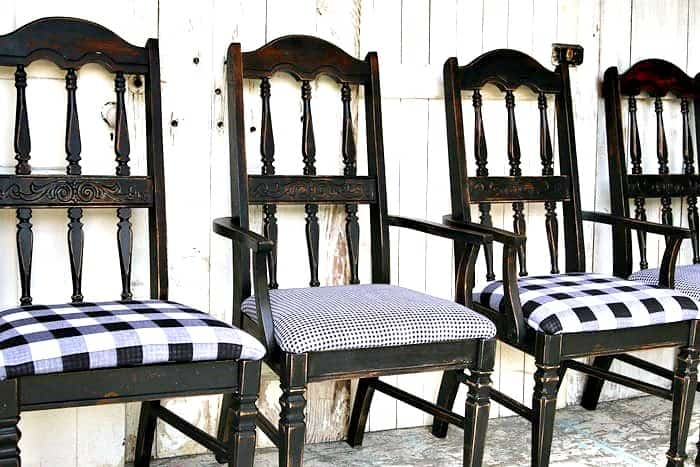 Buffalo Check Dining Chairs Idea