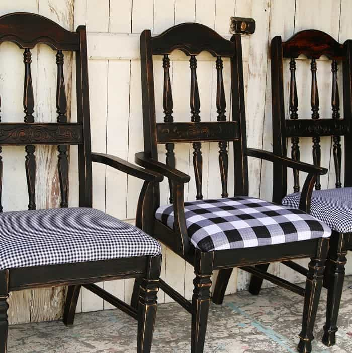 Buzz-Worthy Black And White Buffalo Check Chairs