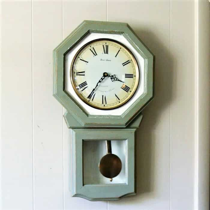 How To Paint A Wood Wall Clock Clock Makeover