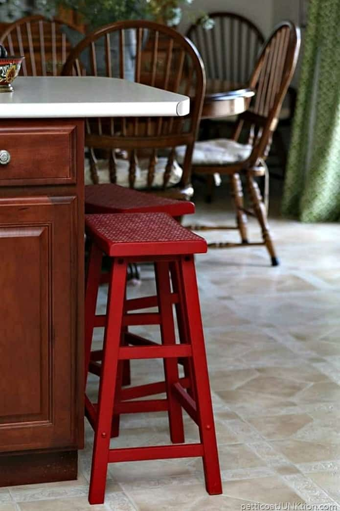 Imperial red barstools