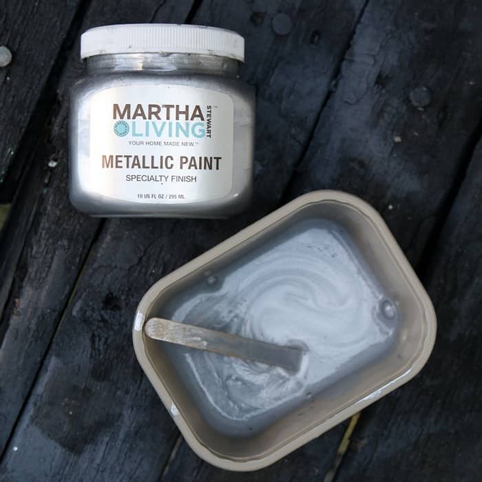 Martha Stewart Metallic Silver Paint