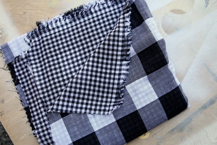 reversible buffalo check fabric