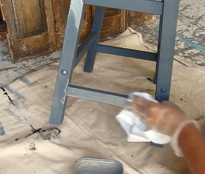 silver paint wash for furniture