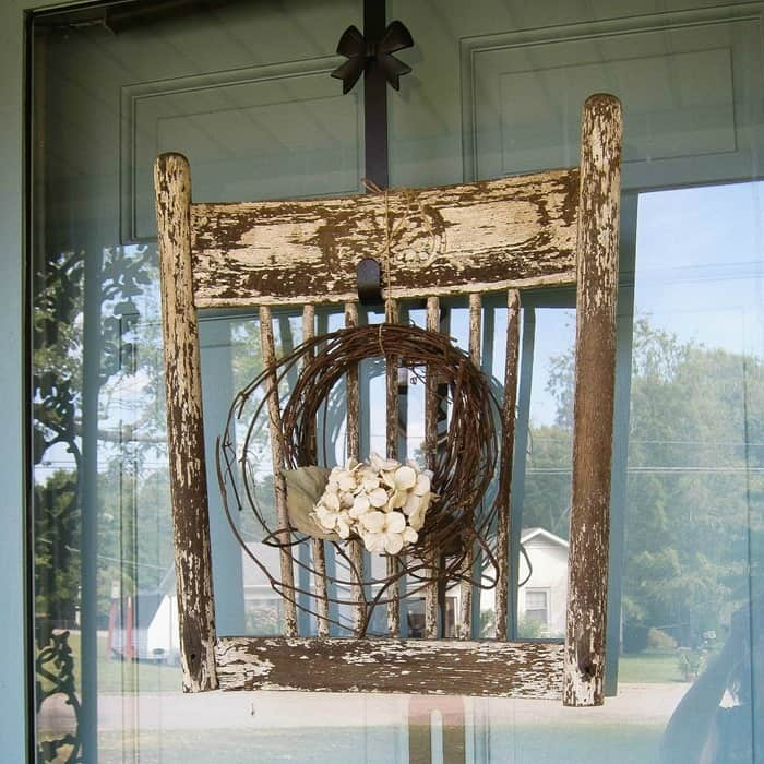 $2 Wood Chair Back Becomes A Shabby Chic Wreath
