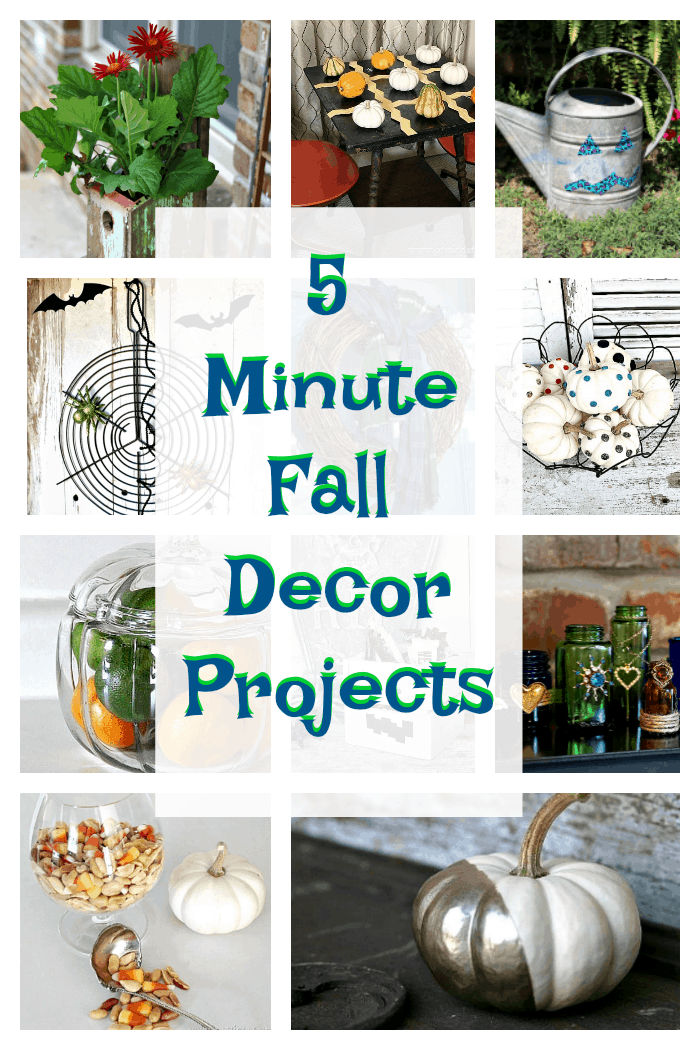 5 minute Fall Decor projects for the lazy DIY'er