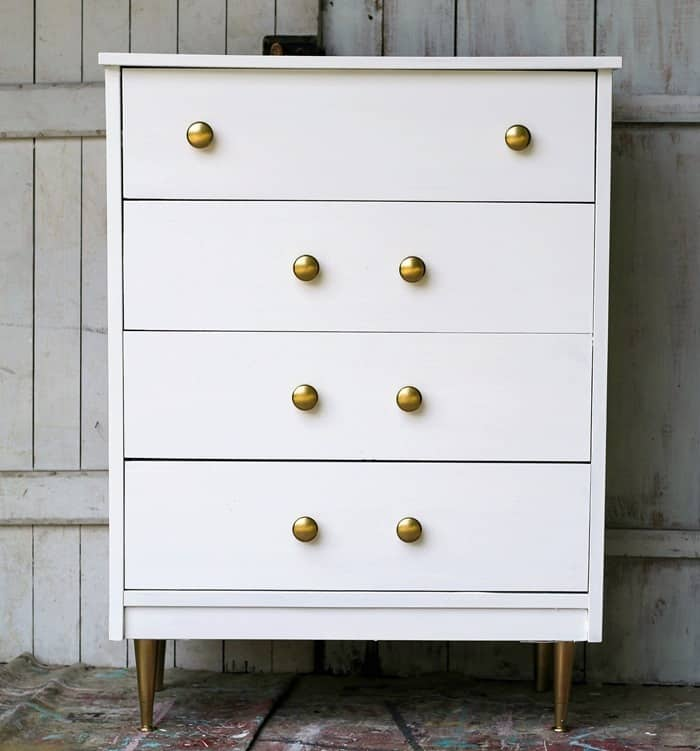 how to paint mid-century modern furniture