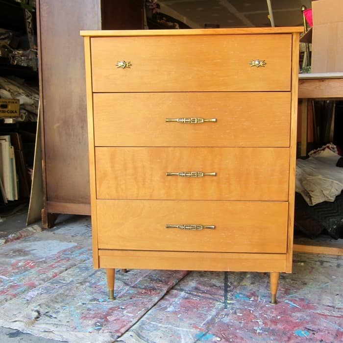 mid century modern chest for makeover from Petticoat Junktion